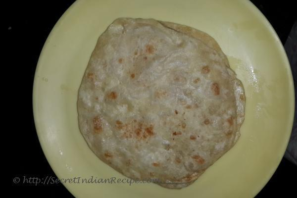 Maida paratha ready to eat