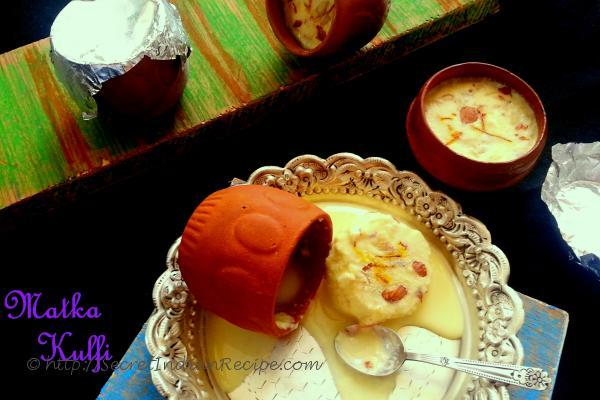 photo of kesar badam matka kulfi
