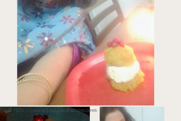 photo of boondi cheesecake