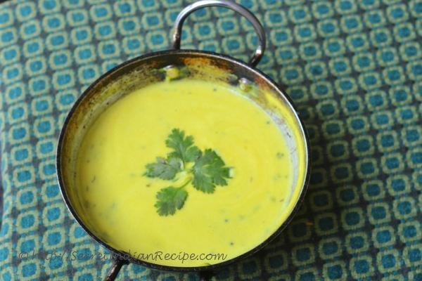 photo of takachi kadhi (yoghurt curry)