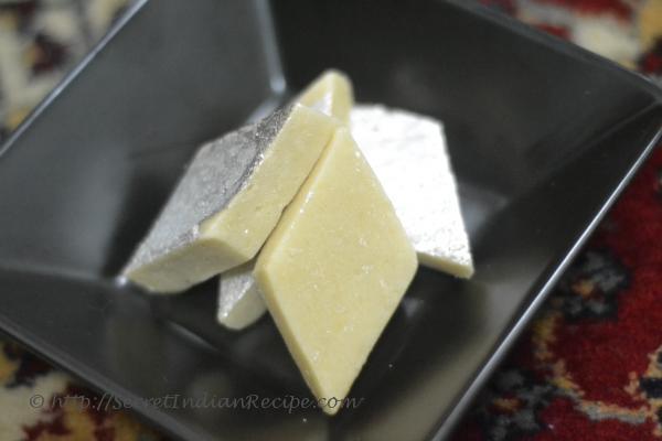 Picture of: Kaju Katli (Sweet Cashew nut Fudge)