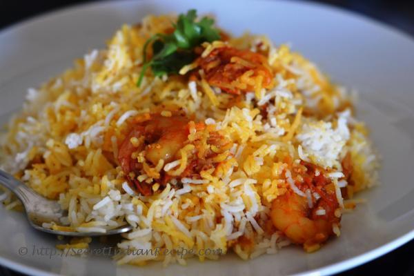 How to make Jhinga biryani (Prawn biryani) - Indian Recipes ...