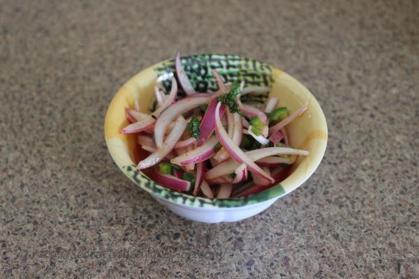 photo of gand chetin (kashmiri onion chutney)