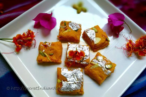 photo of mango kalakand