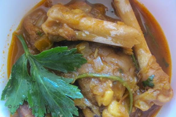 Picture: Pavakka Pachadi (Bitter gourd in Yogurt Gravy)