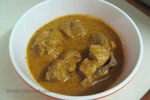 photo of koli saaru (chicken curry the kannadiga style)