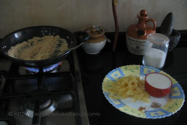 photo of Ingredients for Pineapple Sheera