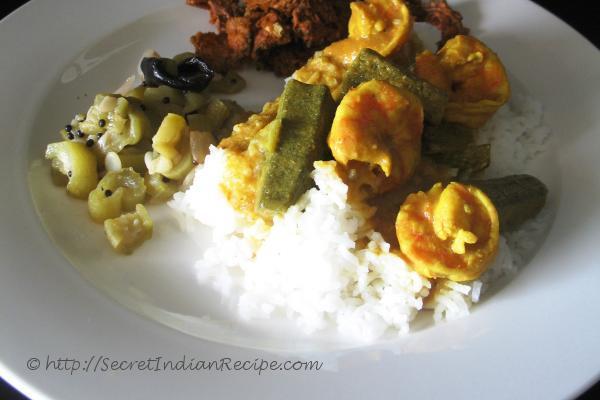 photo of Bhendi ani Sungtachi Kodi ( Prawn and Lady Finger Curry)