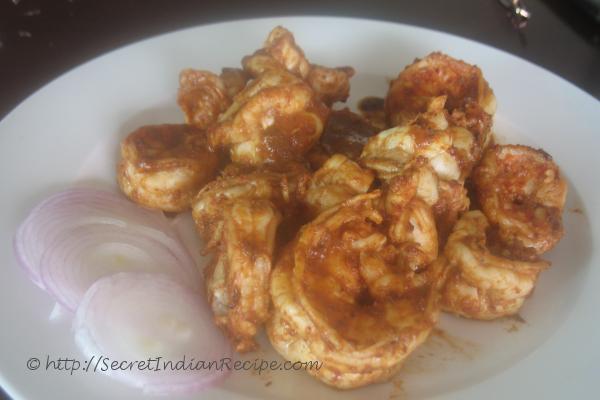 how to make prawns masala