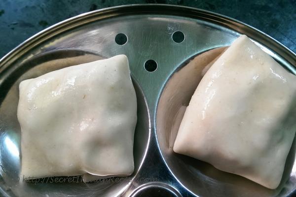 photo of steamed malai momos (steam savoury cream momos)
