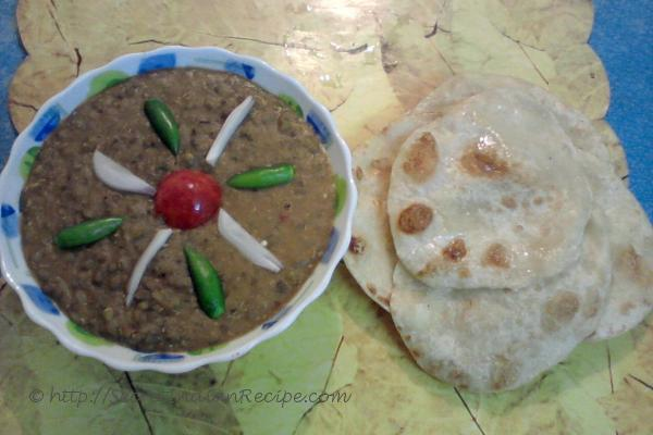 Tarka with tandoori paratha