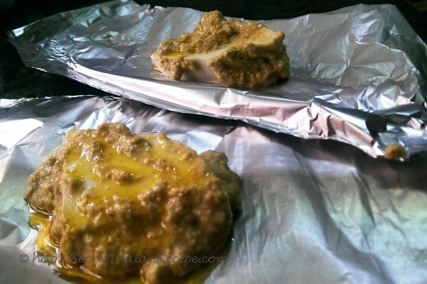 photo of paneer paturi (cottage cheese in mustard sauce)