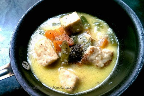 photo of soup style winter vegetable curry