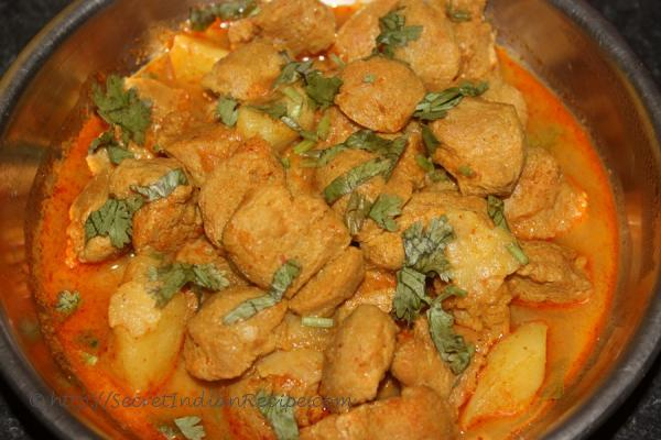 How to make soya nuggets curry vegetarian mutton curry indian picture of soya nuggets curryvegetarian mutton curry forumfinder Image collections