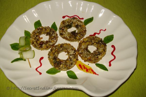 photo of sprouted steamed moong handvo rings or –hariyaley –healthy moong handvo rings#steamedrecipe