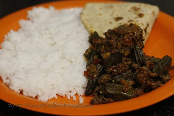photo of Kheema bhindi