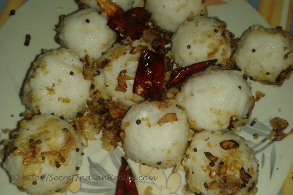 How to make ammini kozhukattai mini steamed rice dumpling with ammini kozhukkatai mini steamed rice dumpling with seasoning forumfinder Image collections