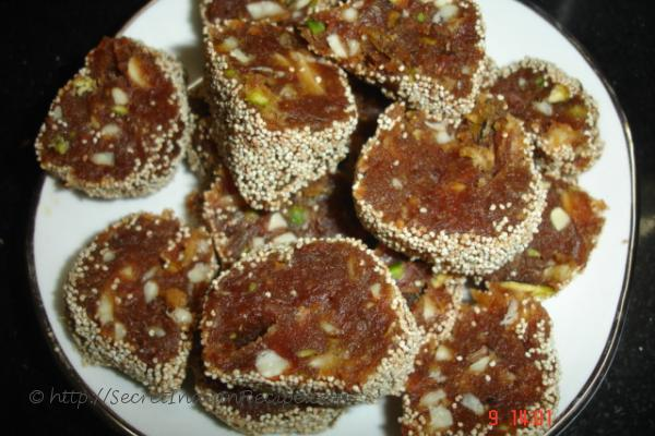 photo of dates burfi