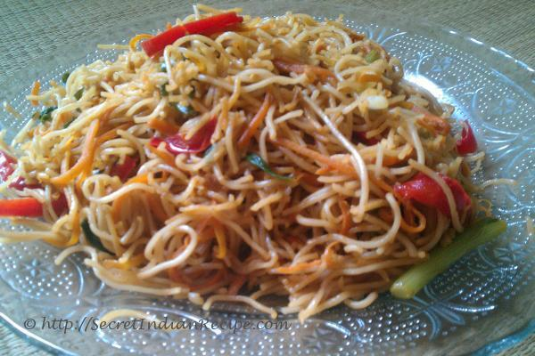 Picture of: Hakka noodles, vegetarian recipes