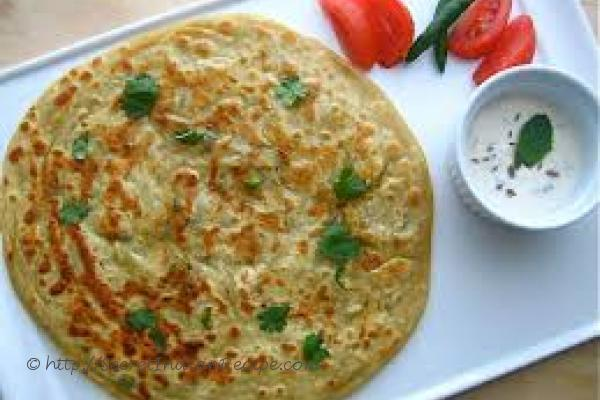 photo of indian breakfast recipe – soyparatha with peanut dip