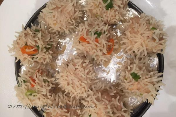 photo of rice chicken dumpling