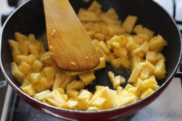 photo of Pineapple sauted