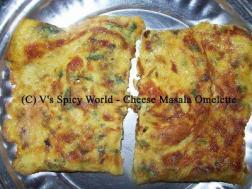 photo of cheese masala omelette