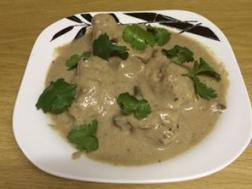 photo of chiken kali mirch with white gravy