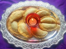 photo of pudachi karanji / layered gujiya- maharashtrian cuisine