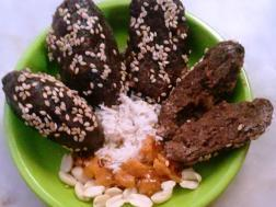 photo of finger millet peanut rolls