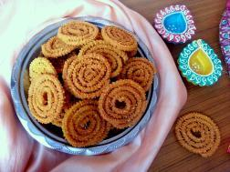 photo of chakli / crispy savory spirals / diwali snacks