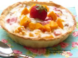 photo of mango strawberry parfait tart #mangorecipes