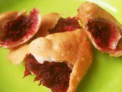 photo of beeta- meetha gulab samosa ( 'beetroot and rose' sweet samosa)