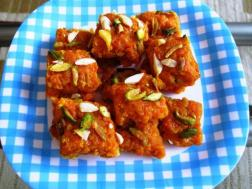 photo of carrot barfi