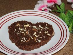 photo of hearty chocolate and semolina halwa