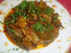 Brinjal & Potato with dried prawns