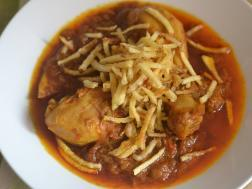 Picture of : Salli Murgh (Parsi chicken Curry)