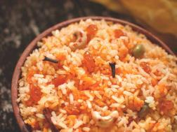 photo of himachali sweet saffron rice