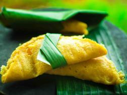 "photo of ""enduri pitha"" ,traditional steam cake infused with mango"