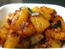 photo of potato curry recipe.