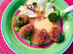 photo of guilt free chicken cutlet (bengali cuisine)