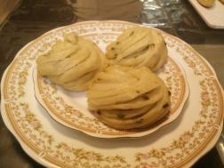 photo of steamed scallions flower buns