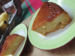 photo of bread mango pudding