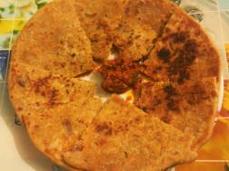 photo of bhujia ka paratha (gram flour snack paratha)