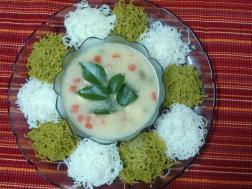 photo of Spinach Idiyappam with vegetable stew