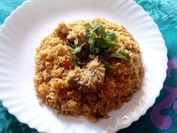 photo of fish biriyani