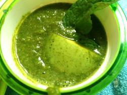 photo of raw mango chutney