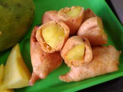 Mango bajjis ready to serve