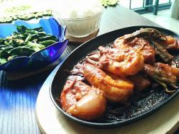 photo of prawns sizzler