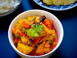 photo of vegetable korma